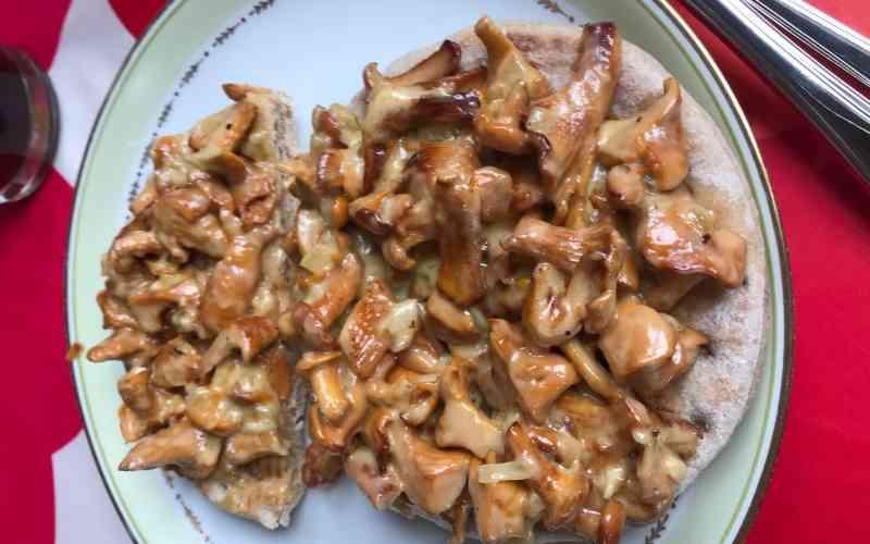 hjemmelavet mad med kantarel